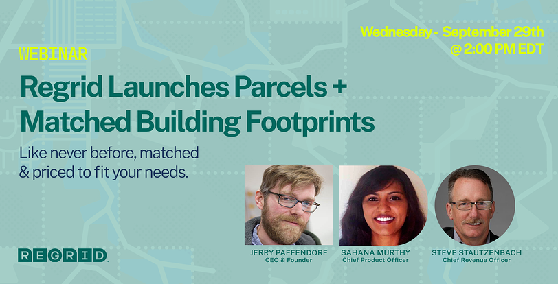 Buildings Launch Webinar, Wednesday September 29th at 2pm ETD.